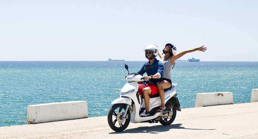 Hire moped in Corfu - Sunriders Motorbikes