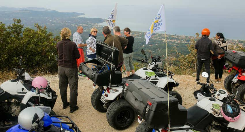 Amazing views of Corfu from Pantokrator at Sunriders quad safari